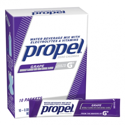 Propel Zero Calorie Grape Powder Packets - Propel Packs w/Electrolytes