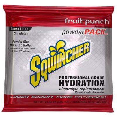 Sqwincher Fruit Punch 2.5 Gallon Powder Pack