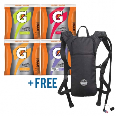 Gatorade Powder Variety Pack 2.5 Gallon & Free Hydration Pack