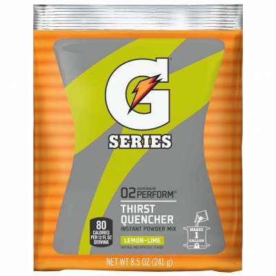 Gatorade Lemon-Lime 1 Gallon  Instant Powder - 8.5 oz Instant Gatorade Mix