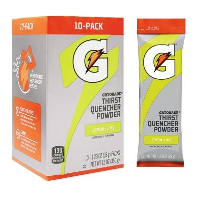 Gatorade Lemon-Lime 1.23 oz Powder Sticks - Instant Gatorade Packs (Pack of 80)