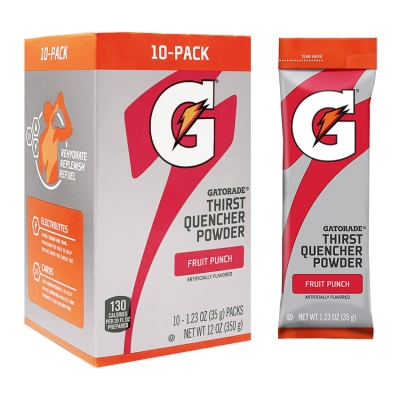 Buy Gatorade Fruit Punch 1.23 oz Powder Sticks - Instant Gatorade Packs (Pack of 80) on sale online
