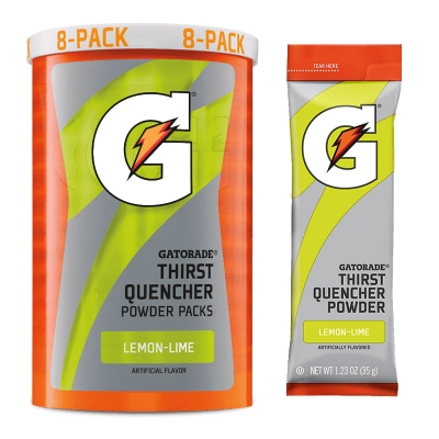 Gatorade Lemon-Lime 1.23 oz Powder Packets - Instant Gatorade Packs