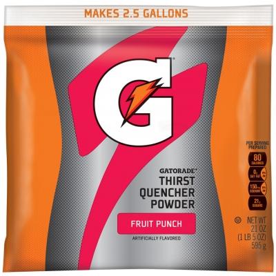 Gatorade Fruit Punch 2.5 Gallon Instant Powder - 21 oz Gatorade Mix