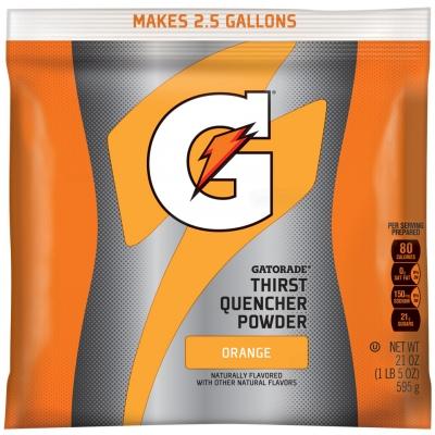 Gatorade Orange 2.5 Gallon Instant Powder Mix - 21 oz Gatorade Mix