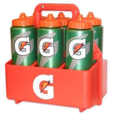 Gatorade Squeeze Bottle Carrier with 6 - 32 oz Bottles