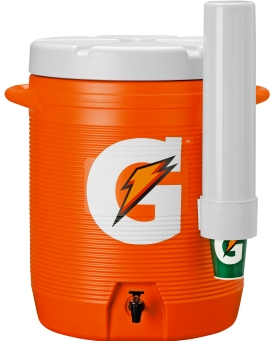 Gatorade 10 Gallon Cooler - Original Bright Orange-Design Cooler