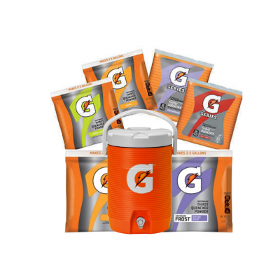 Industrial Hydration Gatorade 2.5 Gallon Powder w/Two Free Coolers & Free Shipping