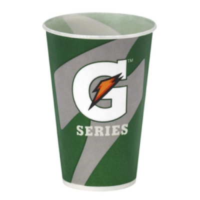 12 oz Gatorade Waxed Logo Paper Cups 2000/cs