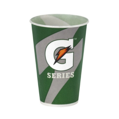 7 oz Gatorade Waxed Logo Paper Cups 2000/cs