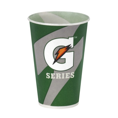 Buy 12 oz Gatorade Waxed Logo Paper Cups 2000/cs on sale online