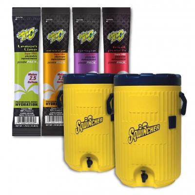 Sqwincher ZERO Sugar Free 2.5 Gallon Powder with 2 Free Coolers