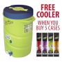 5 Cases Sqwincher ZERO SUGAR FREE - 2.5 Gallon Packs & FREE Double Cooler