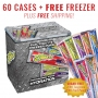 60 cs Sqwincher Sqweeze & FREE 7 Cubic ft Freezer FREE SHIPPING (Pricing is per case)