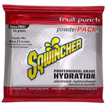 Sqwincher Fruit Punch 2.5 Gallon Powder Pack
