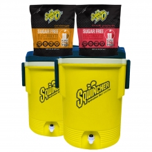 Sqwincher Zero Ultra 2.5 Gallon Sugar Free Liquid Concentrate w/2 FREE Coolers