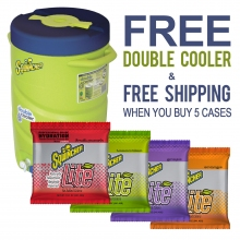 Buy 5 Cases Sqwincher LITE Low Calorie 3 Gallon Packs & FREE Double Cooler on sale online