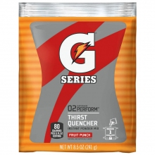 Gatorade 1 Gallon Fruit Punch Instant Powder - 8.5 oz Instant Gatorade Mix