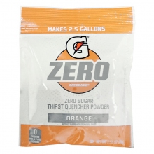 Gatorade Zero 2.5 Gallon Powder Mix, Orange (Pack of 12)