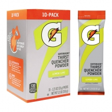Gatorade Lemon-Lime 1.23 oz Powder Sticks - Instant Gatorade Packs (Pack of 80)