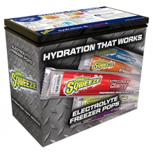Buy Sqwincher Sqweeze Assorted Flavors Freezer Pops (60 cs) & Free 7 Cubic ft Freezer on sale online