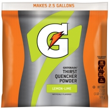 Gatorade Lemon-Lime 2.5 Gallon Instant Powder Mix - 21 oz Gatorade Mix