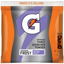 Gatorade Riptide Rush 2.5 Gallon Instant Powder Mix - 21 oz Gatorade Mix