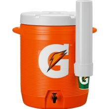 Gatorade 10 Gallon Cooler w/Dispenser - Original Bright Orange Design Cooler