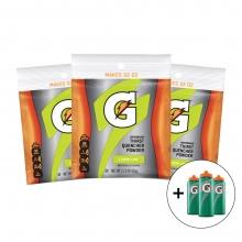 Gatorade Single Serve XL  Lemon Lime Powder Bundle w/10 Squeeze Bottles