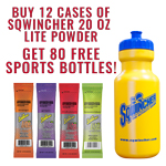 Buy 12 Cases Sqwincher LITE Low Calorie Hydration Drink 20 Oz Sticks & 80 FREE Sports Bottles (Pricing is per case) on sale online