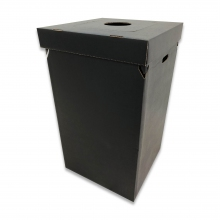 Disposable Trash Container Black w/Multi-Function Lid