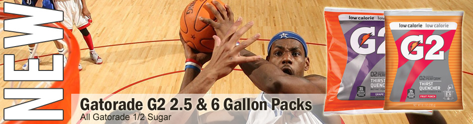 Gatorade G2™ 2.5 & 6 Gallon Packs powder